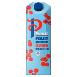 Princes No Added Sugar Fruit Refreshers Cranberry 1 Litre