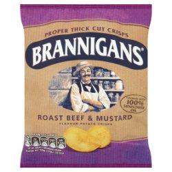 Brannigans Roast Beef & Mustard Flavour Potato Crisps 40g