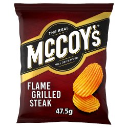 The Real McCoy's Flame Grilled Steak Ridge Cut Potato Crisps 47.5g