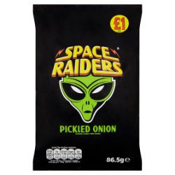 Space Raiders Pickled Onion Flavour Cosmic Corn Snacks 86.5g