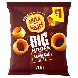 Hula Hoops Big Hoops BBQ Beef Crisps 70g, £1 PMP