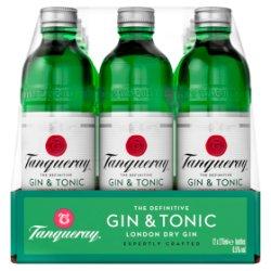 Tanqueray London Dry Gin & Tonic 12 x 275ml