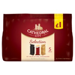 Cathedral City Selection Miniature Cheddars PMP £1 5 x 12g