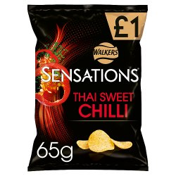 Sensations Thai Sweet Chilli Crisps £1 PMP 65g