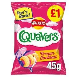 Walkers Quavers Prawn Cocktail Snacks £1 RRP PMP 45g