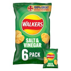 Walkers Salt & Vinegar Crisps 6x25g
