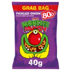 Mega Monster Munch Pickled Onion Snacks PMP 40g