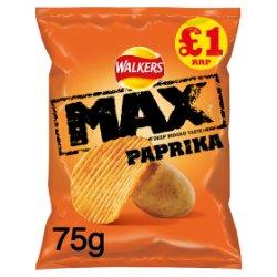 Walkers Max Paprika Crisps PMP 75g