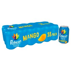 Rubicon Sparkling Mango Juice Drink 18 x 330ml
