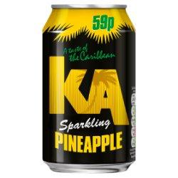 KA Sparkling Pineapple 330ml Can, PMP 59p
