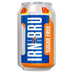 IRN-BRU Sugar Free 330ml Can, PMP 69p