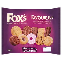 Fox's Favourites 28 Biscuits with 10 Varieties 365g