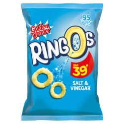 Golden Wonder Ringos Salt & Vinegar 20g