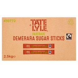 Tate & Lyle Fairtrade Demerara Sugar Sticks 1000 x 2.5g