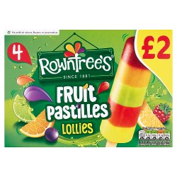 Rowntree's Fruit Pastilles Lollies 4 x 65ml