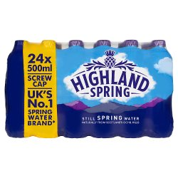 Highland Spring Still Spring Water 24 x 500ml