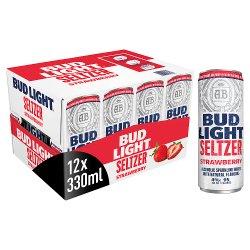 Bud Light Seltzer Strawberry Cans 12 x 330ml