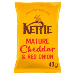 KETTLE® Mature Cheddar & Red Onion 40g