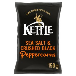 KETTLE® Chips Sea Salt & Crushed Black Peppercorns 150g