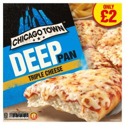 Chicago Town Deep Pan Triple Cheese Pizza 405g