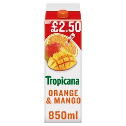 Tropicana Orange & Mango Juice £2.50 RRP PMP 850ml