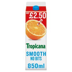 Tropicana Smooth Orange Juice PMP 850ml