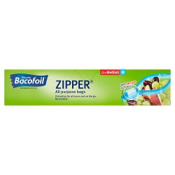 Bacofoil® Zipper® All Purpose bags 12 x Medium