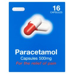 Aspar Paracetamol Capsules 500mg 16 Capsules