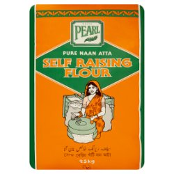 White Pearl Pure Naan Atta Self Raising Flour 25kg