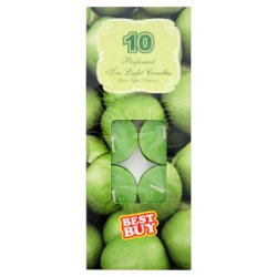 Best Buy 10 Perfumed Tea Light Candles Green Apple Fragrance
