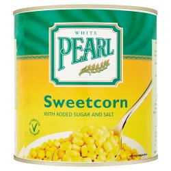 White Pearl Sweetcorn in Sugared, Salted Water 2120g