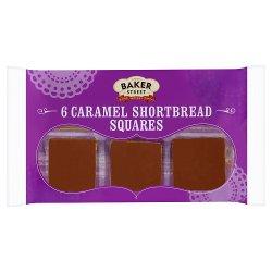 Baker Street 6 Caramel Shortbread Squares