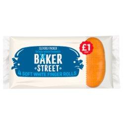 Baker Street 4 Soft White Finger Rolls