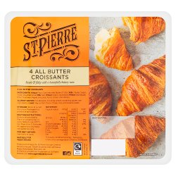 St. Pierre 4 All Butter Croissants