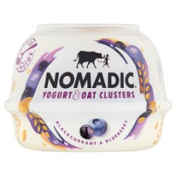 Nomadic Yogurt & Oat Clusters Blackcurrant & Blueberry 169g