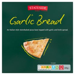 Stateside Foods Garlic Bread Italian Style Stonebaked Pizza 240g