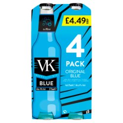 VK Alcoholic Mix Original Blue 4 x 275ml