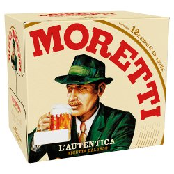 Birra Moretti Lager Beer 12 x 330ml Bottles