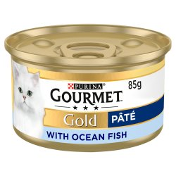 Gourmet Gold Tinned Cat Food Pate with Ocean Fish 85g