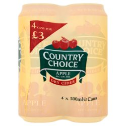 Country Choice Apple Dry Cider 4 x 500ml