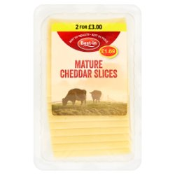 Best-in Mature Cheddar Slices 200g
