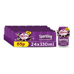 Ribena Sparkling Blackcurrant 330ml 65p PMP
