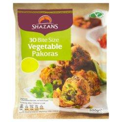 Shazans 30 Bite Size Vegetable Pakoras 600g