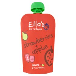 Ella's Kitchen Organic Strawberries + Apples Pouch 4+ Months 120g