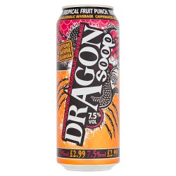 Dragon Soop Tropical Fruit Punch Caffeinated Alcoholic Beverage 500ml