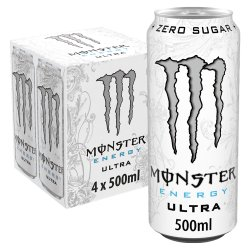 Monster Ultra Energy Drink 4 x 500ml