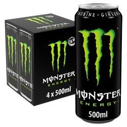 Monster Energy 4 x 500ml PMP £4.59