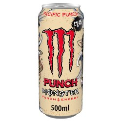 Monster Pacific Punch Energy Drink 12 x 500ml PM £1.45