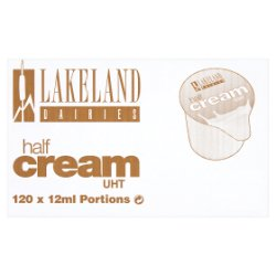 Lakeland Dairies Half Cream UHT 120 x 12ml