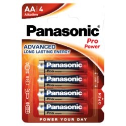 Panasonic Pro Power AA Batteries Alkaline 4 Pack